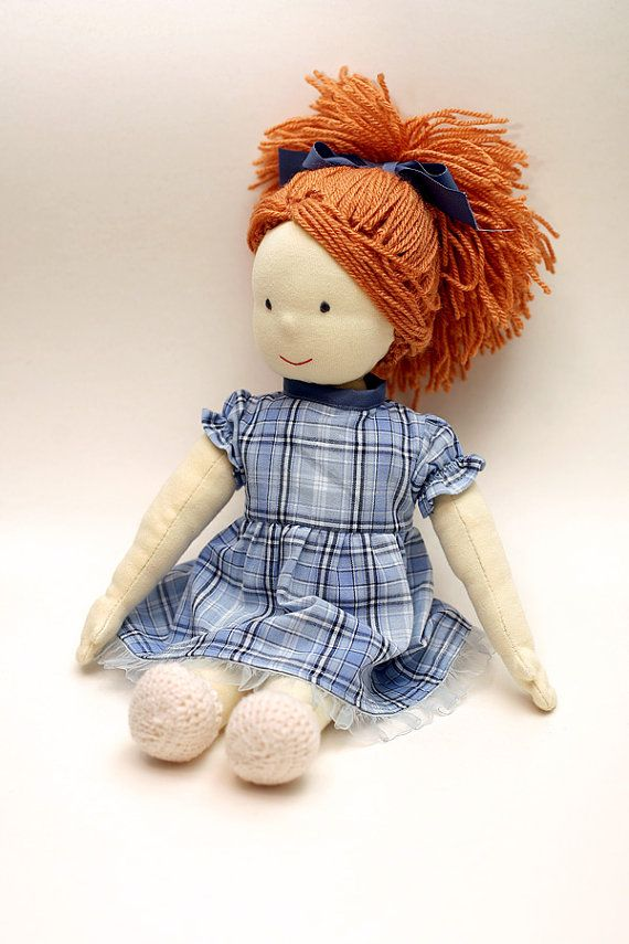Waldorf Doll Handmade Kids toy Eco friendly by chestofgoodthings,
