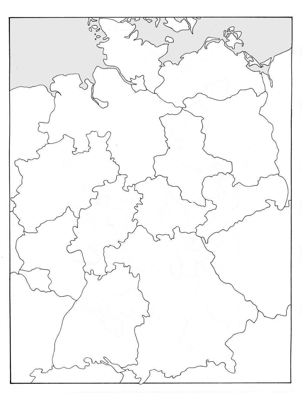 Deutschlandkarte Mit Bundesländern Zum Ausdrucken | My blog