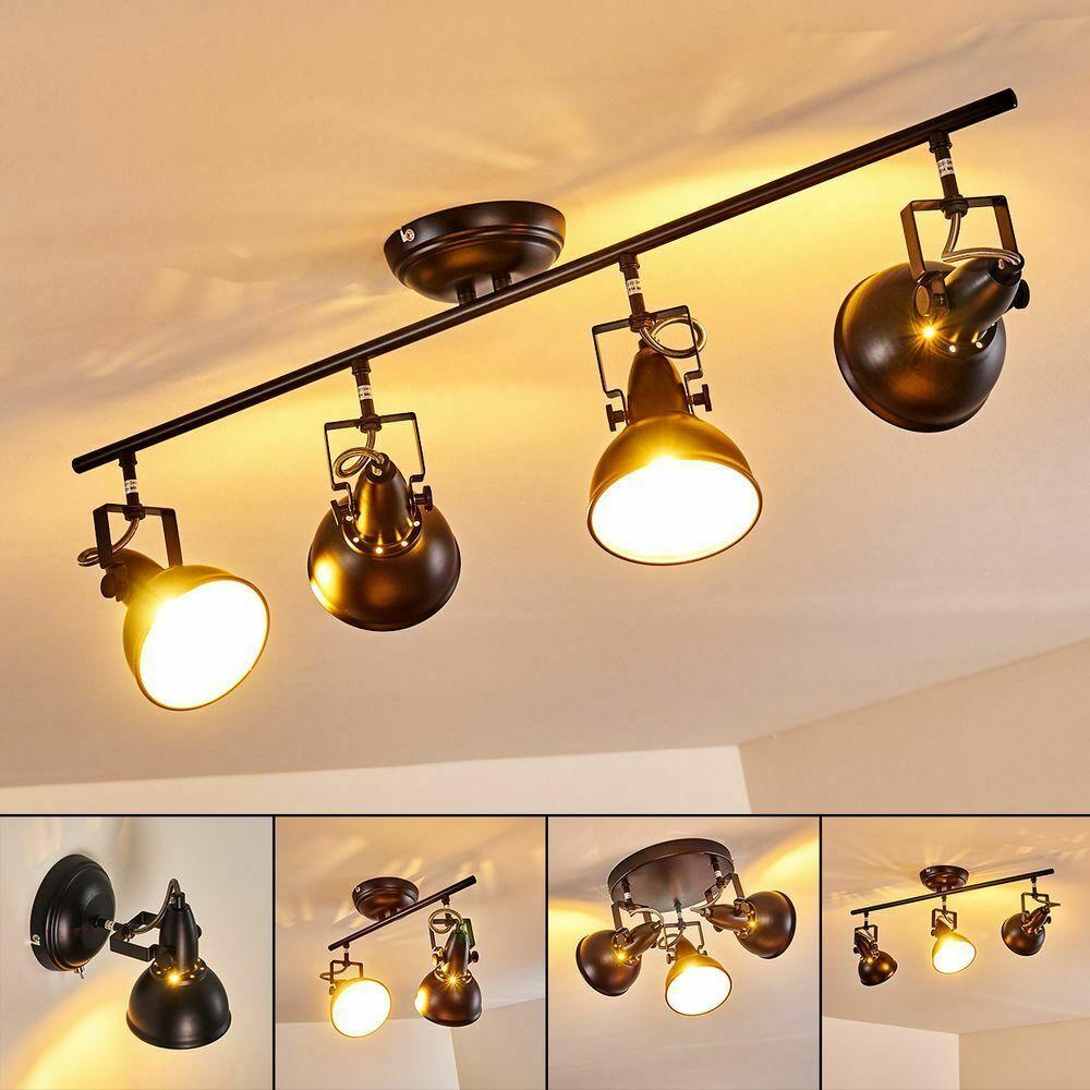 Vintage Wand Lampen schwarz//gold Schlaf Wohn Zimmer Beleuchtung Flur Strahler