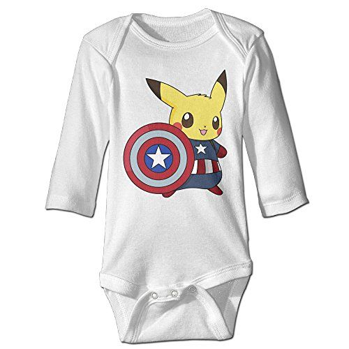 6372a8fec Babys Boys Girls Custom Captain Pikachu Tshirt White Size 24 Months ** To  view further for this item, visit the image link.