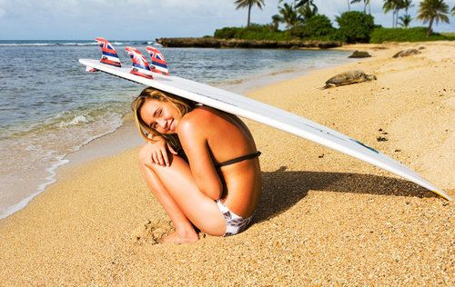 beach, bikini, blonde, girl, ocean - inspiring picture on Favim.com