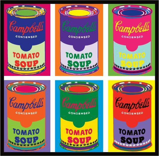 Andy Warhol Tomato Soup Campbell Soup Art Pop Art Food Campbell S Soup Cans