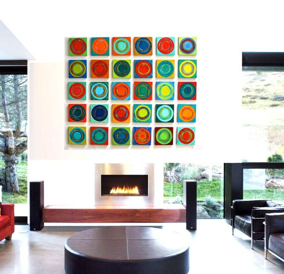 Painted Wood Abstract Wall Sculpture 30 Piece Collection Modern Abstract On Wood Wall Art Blocks Wall Sculptures Painted Wood Walls Abstract Wall Decor