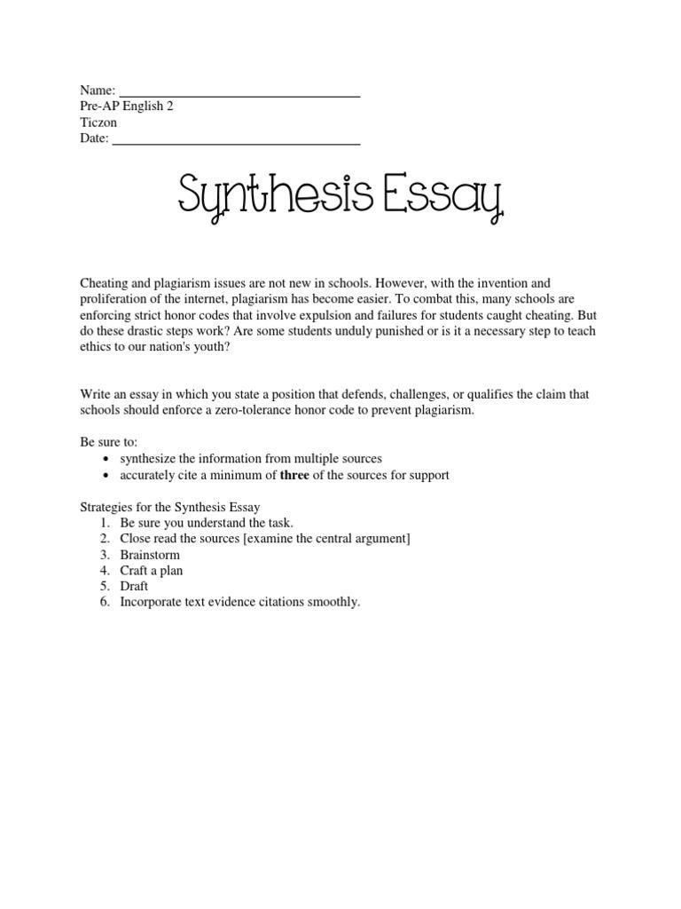 Honor code essay