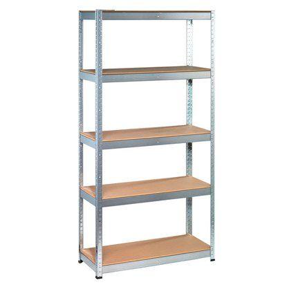 Obi Regal Metalowy 175 Kg 180x90x40 Cm 5 Polek Kupuj W Obi Metal Shelves Workshop Shelves Galvanized Shelves