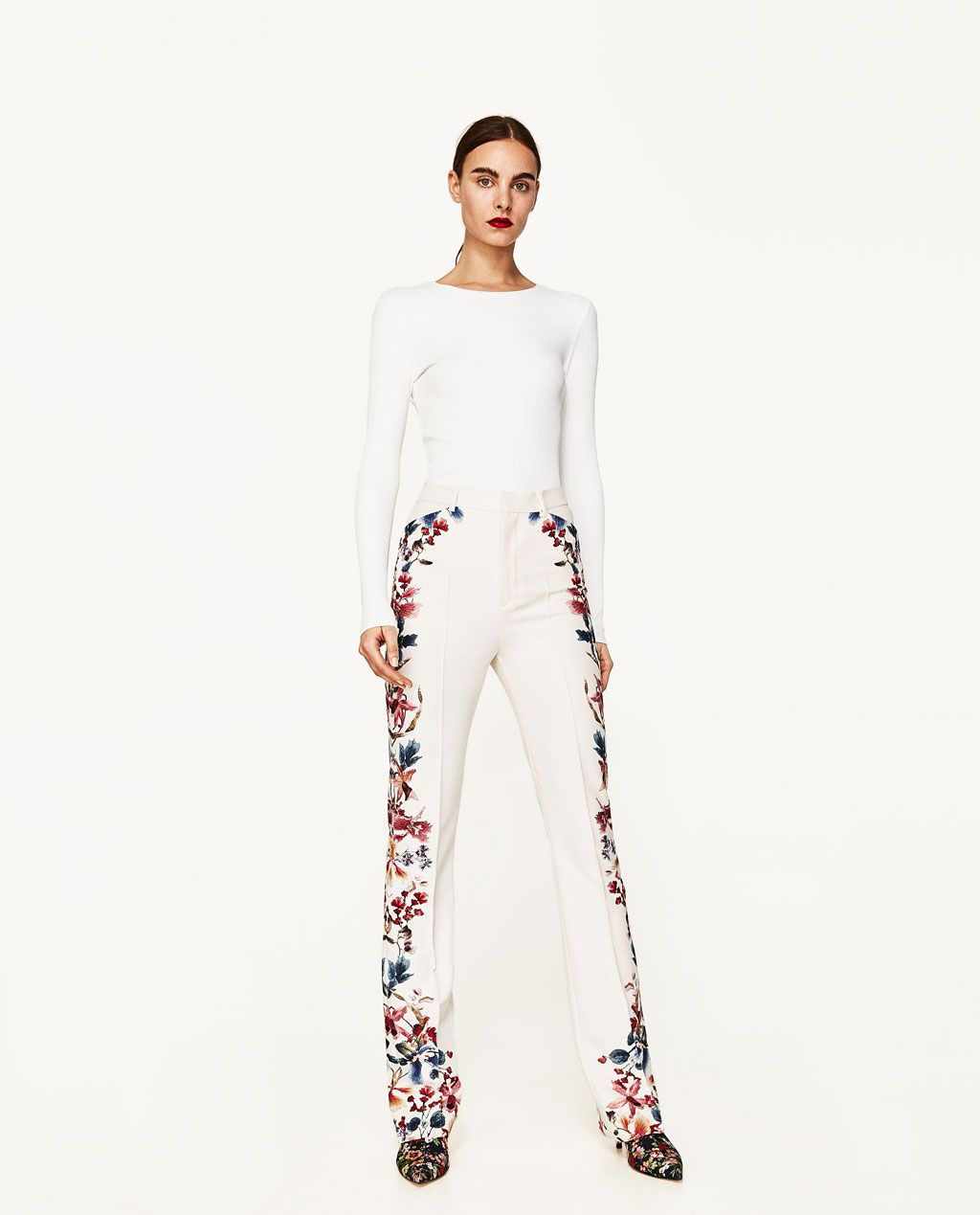 40404af246 SIDE PRINTED FLARED TROUSERS-SUMMER BREEZE-WOMAN-EDITORIALS | ZARA ...