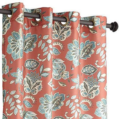 Glencove Floral Curtain Chili Floral Curtains Homemade Curtains Hanging Curtains