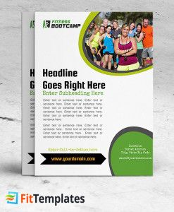Outdoor Boot Camp Flyer For Group Training Classes From