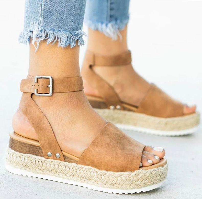 Summer women high heels wedges sandals gladiator platform