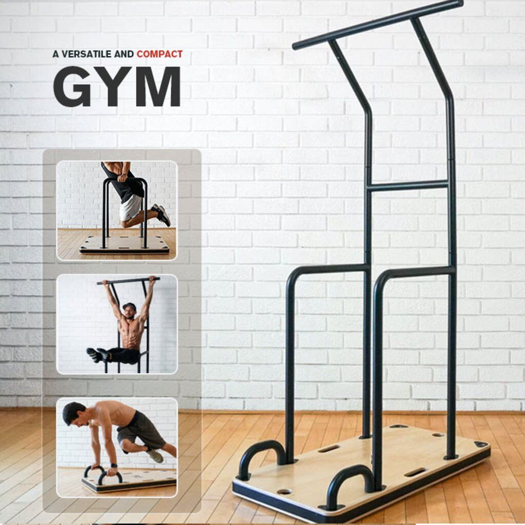Multifunctional Assembled Fitness Equipment Easy Break Down And Storage Endless Exercise Options In 2021 Bar Workout Gym At Home No Equipment Workout