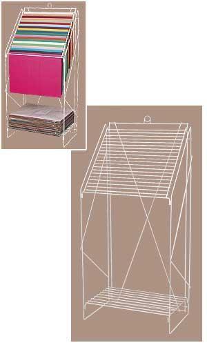 Floor Standing White Wire Tissue Paper Rack Cp Tissue
