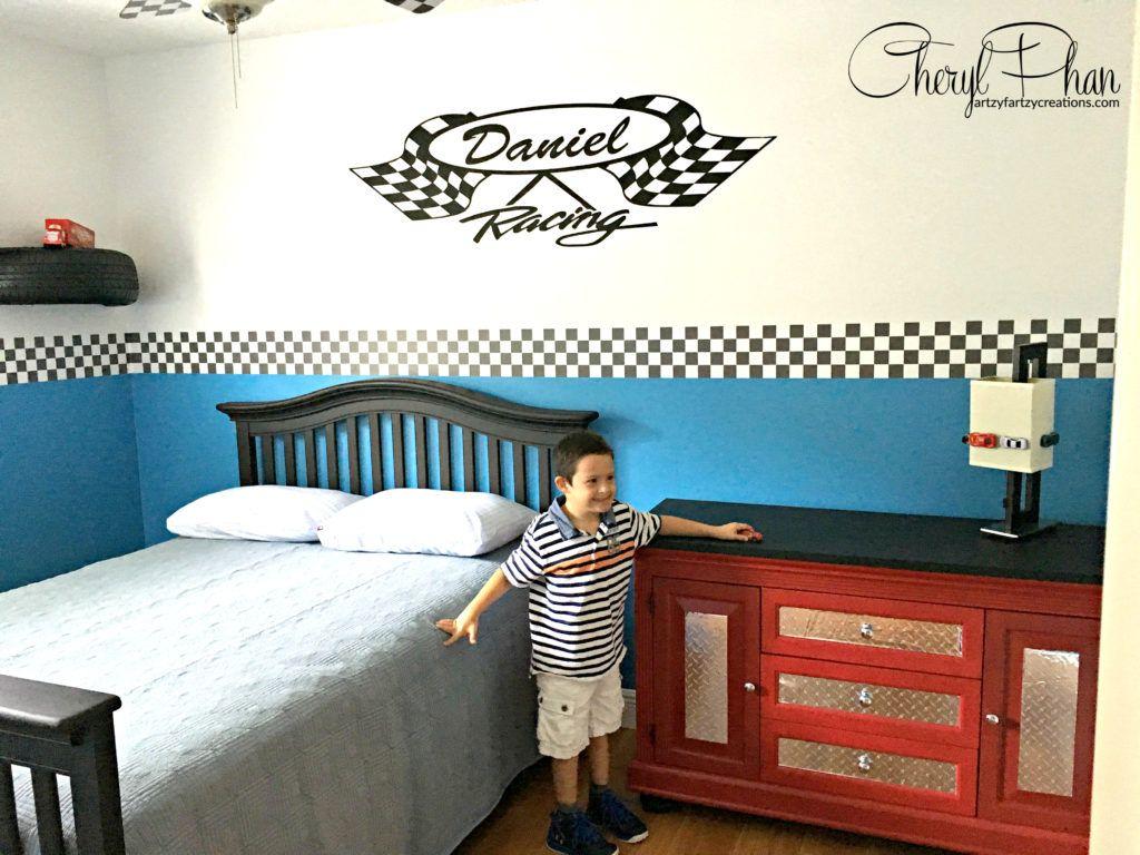How To Design A Race Car Boys Bedroom Lightening Mcqueen Bedroom
