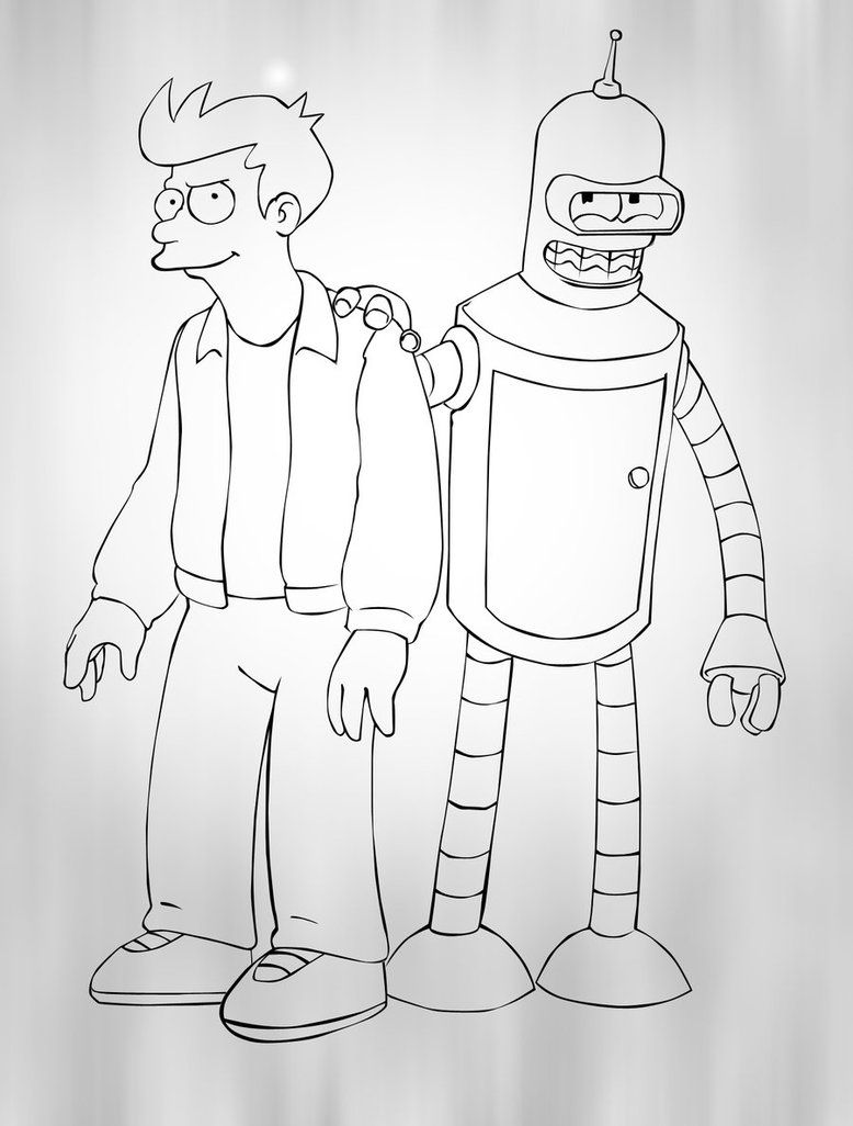 Futurama Coloring Pages  Printable Coloring Pages  Coloring