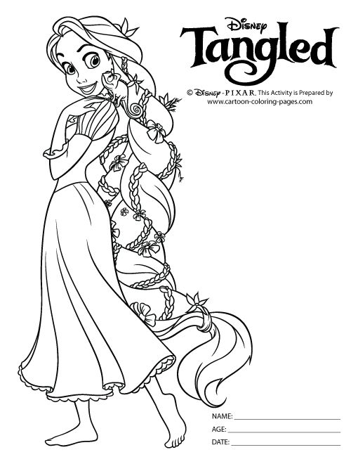 printable rapunzel coloring pages tangled pascal coloring pages getcoloringpages