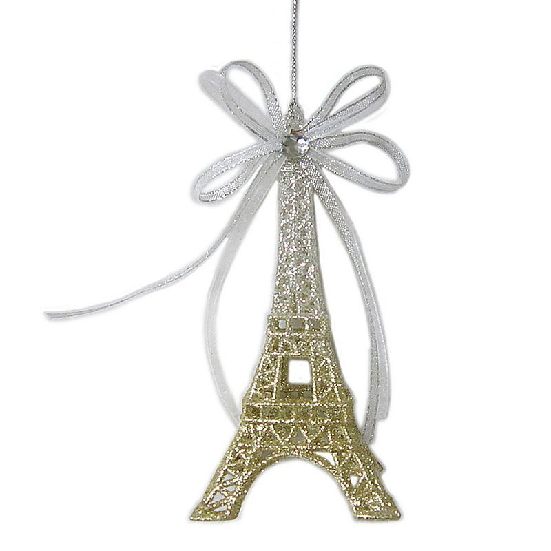 St Nicholas Square® Ombre Glitter Eiffel Tower Christmas Ornament