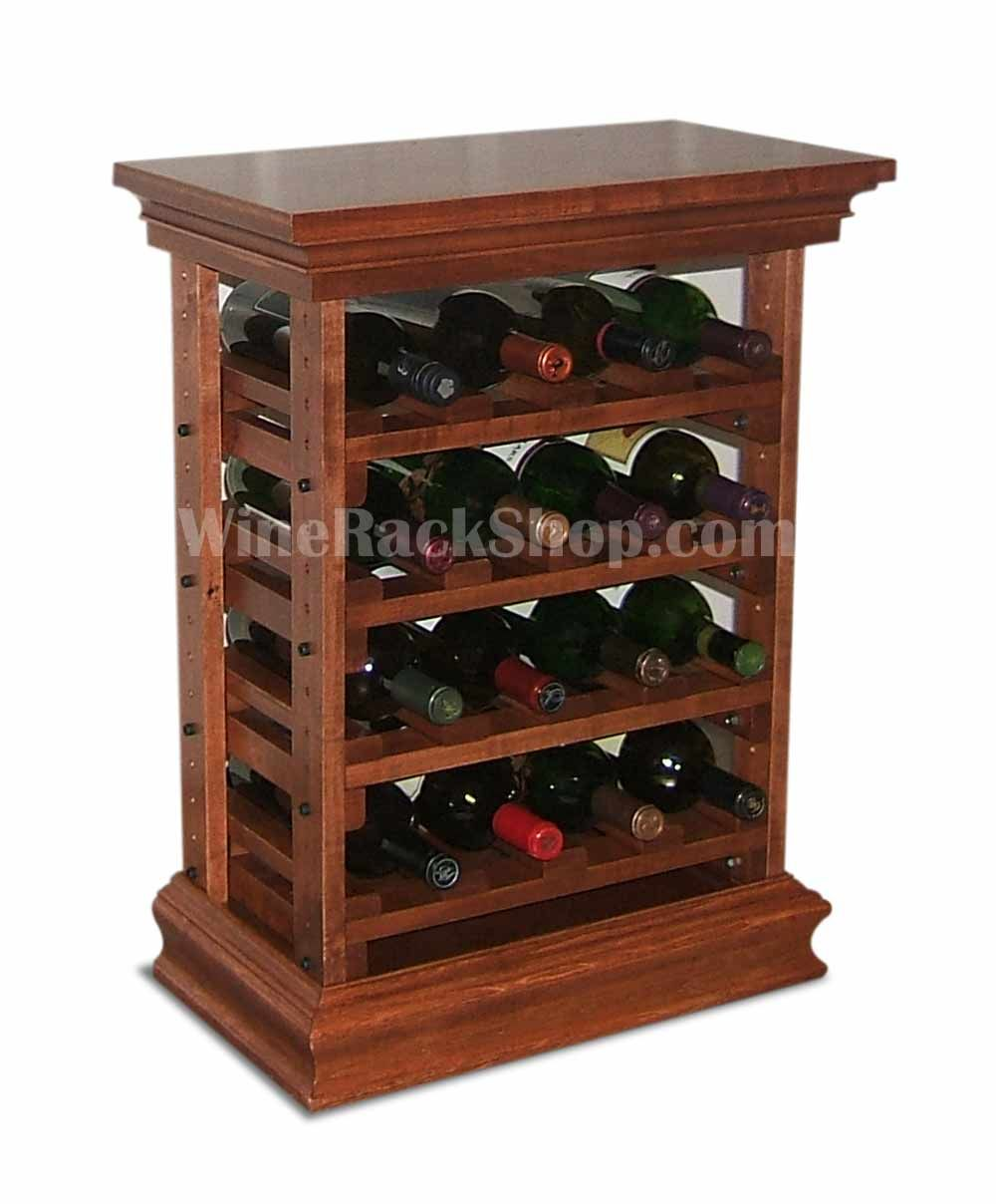 Small Wood Wine Rack With Top And Baseboard Shown Here In Cherry Finish Ideal For That Small Space Wood Wine Racks Wine Rack Wooden Wine Rack