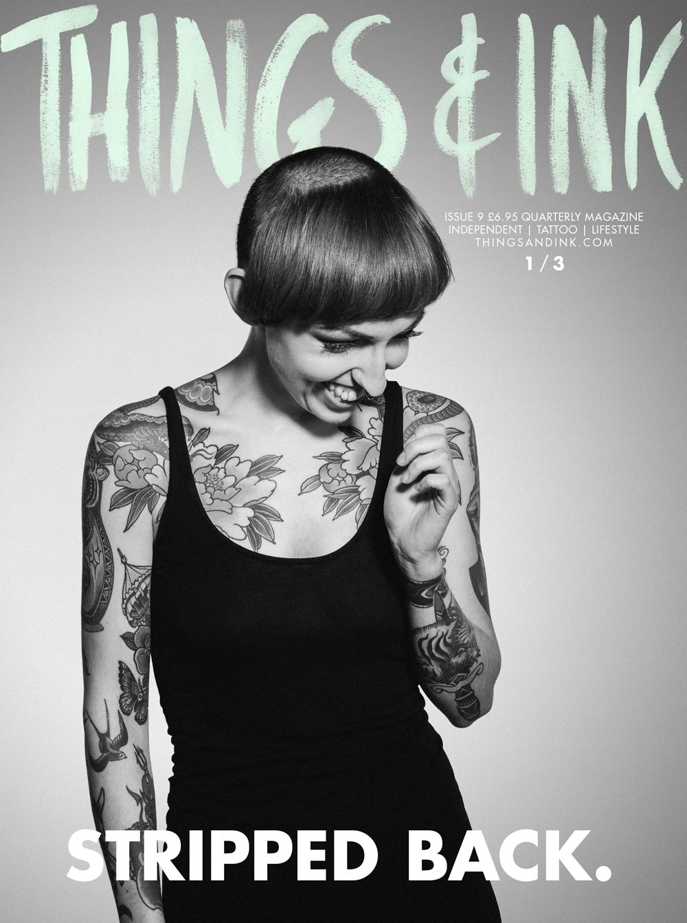 Stripped Back, Things&Ink magazine. 1/3 Tattoo Artist Flo