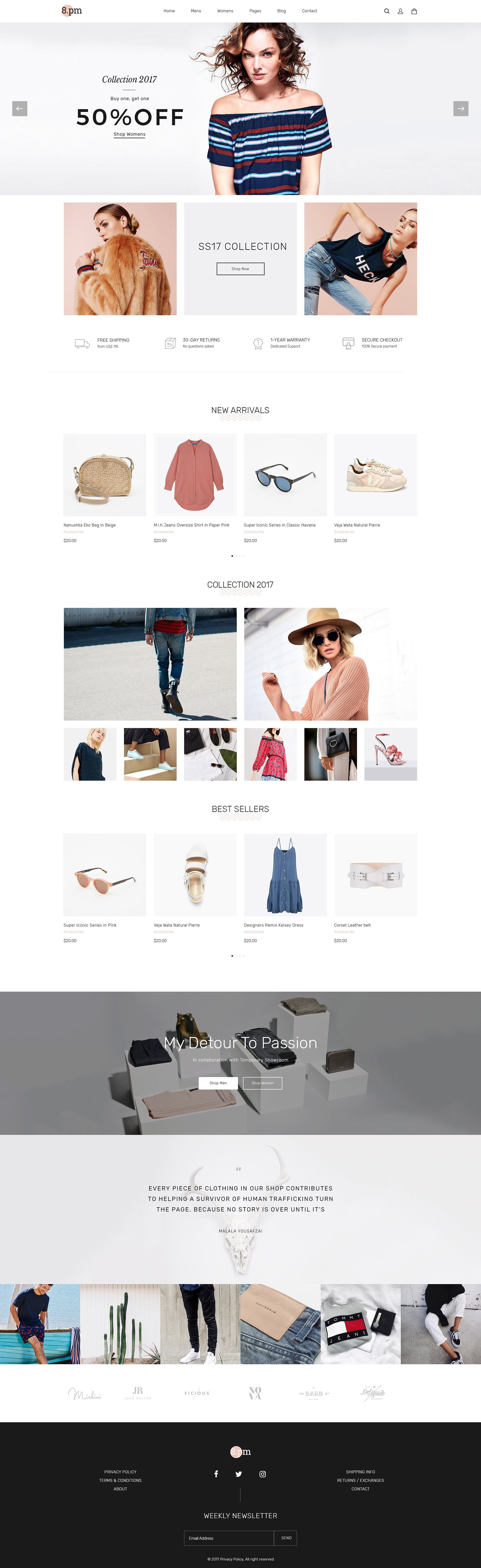 Eightpm Fashion WordPress Theme by Opal Wordpress Theme
