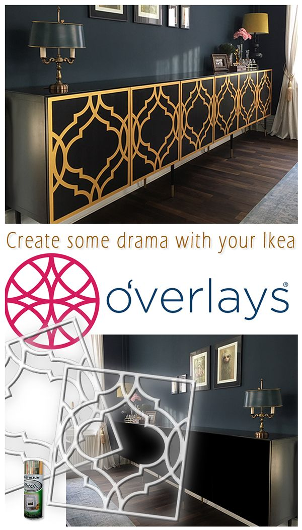 create some drama with your ikea using overlays shop today home design pinterest meubles rnovation et dco maison