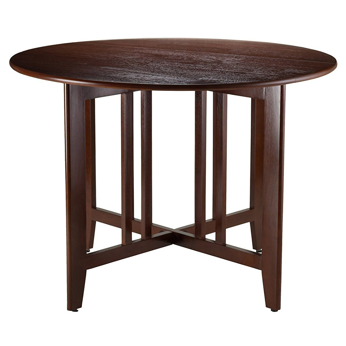 Attrayant Winsome Wood Alamo Double Drop Leaf Round Table Mission, 42 Inch