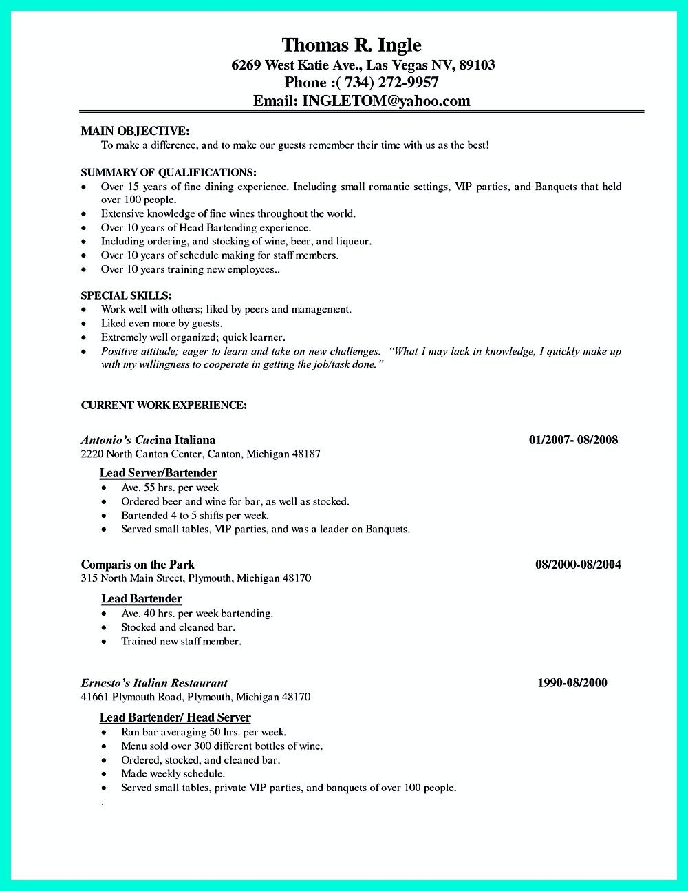in convincing the caf or restaurant you must write your ability in waitress ability cocktail waitress resume samples and cocktail server resume examples