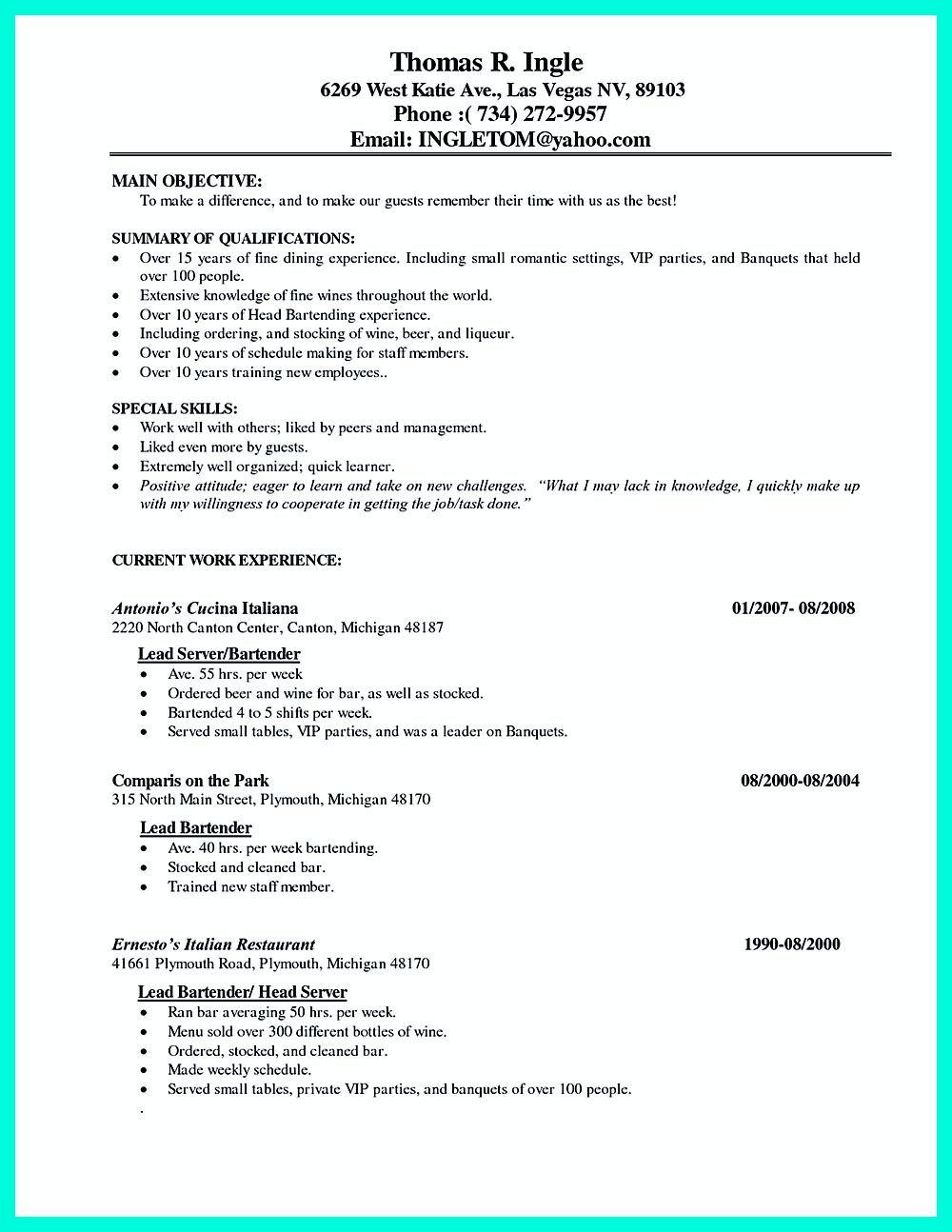 Restaurant Cafe Job Description