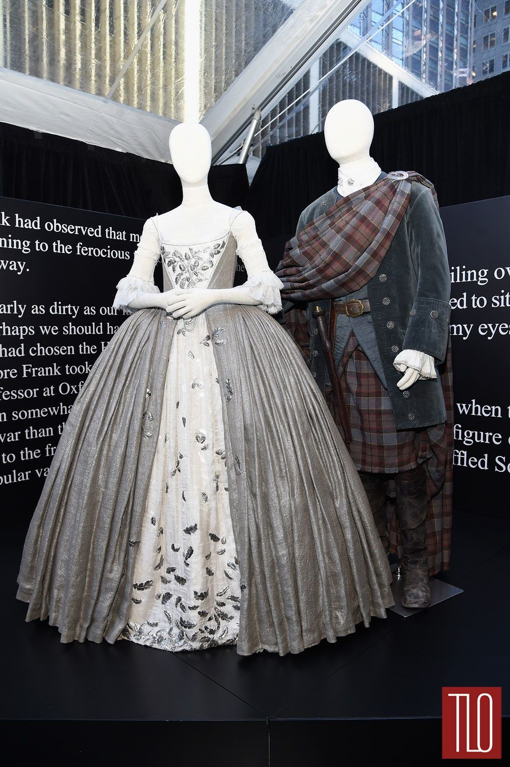 Claires Wedding Dress Is Made Of Silvered Jute Linen With Very Fine Cartridge Pleating The Stomacher And Petticoat A Silk Weave Covered In 45