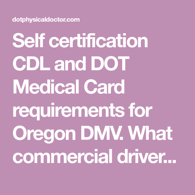 medical card for commercial drivers