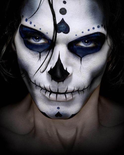 Halloween Maschere.Great Dia De Los Muertos Makeup Dia De Los Muertos Trucco Per
