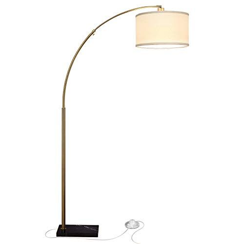 Brightech Logan Contemporary Arc Floor Lamp W Marble