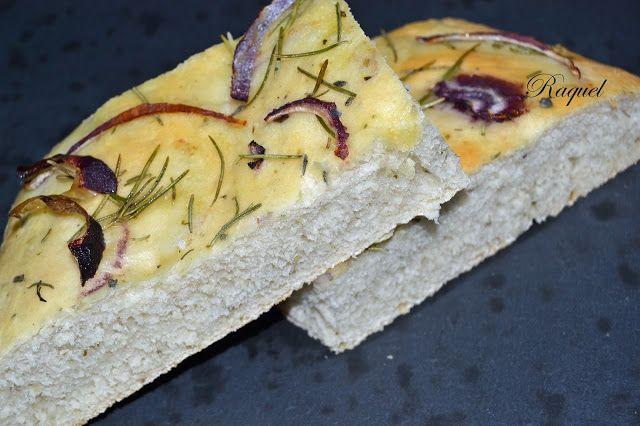 Mi Diversión en la cocina: Focaccia con Cebolla Morada y Romero