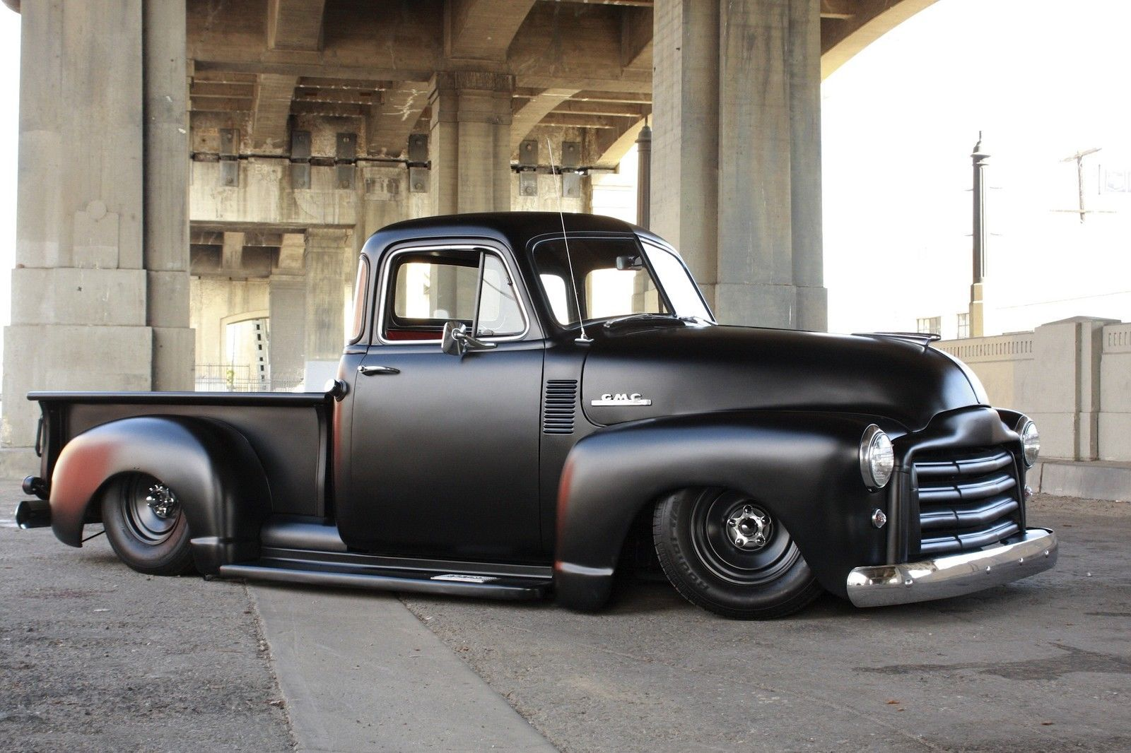 1953 Gmc Chevrolet Pickup Hot Rod Rat Rod Blacked Out Gmc Trucks