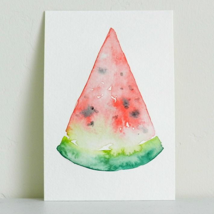 Watercolor Watermelon 4 Steps To Painting A Slice Of Summer