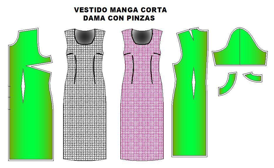 Moldes Con Vestido Coser¡ Vestidos PinzasAprendiendo A De jGLzSVpqUM