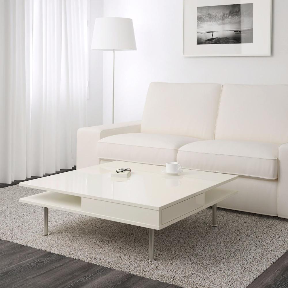 Tofteryd Table Basse Brillant Blanc Ikea Suisse Couchtisch Hochglanz Wohnzimmertische Ikea Couchtisch