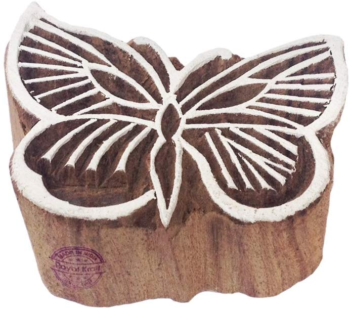 AmazonSmile Classy Butterfly Insect Motif Wood Block