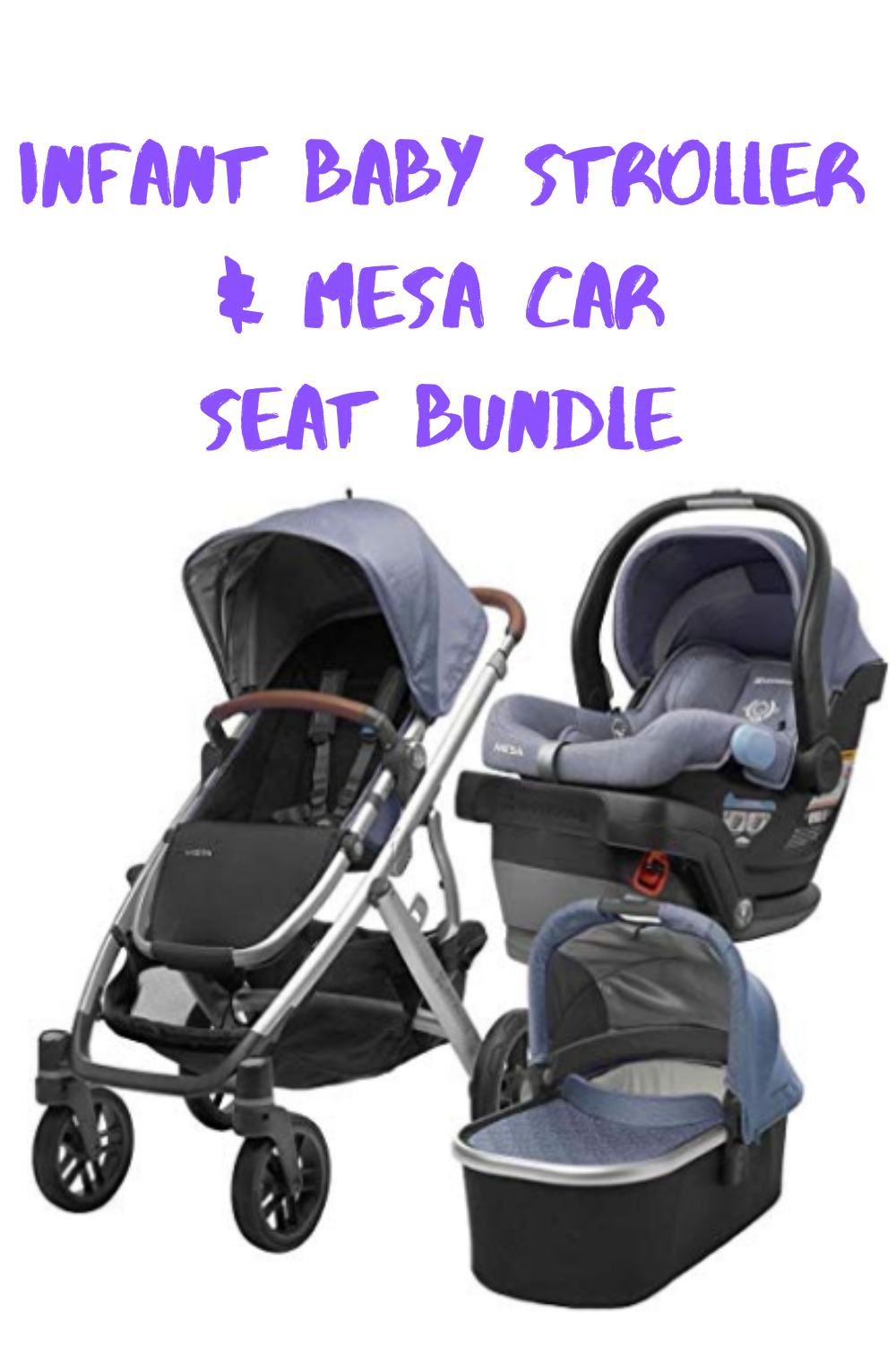 The Ultimate travel system bundle. Includes Vista Stroller