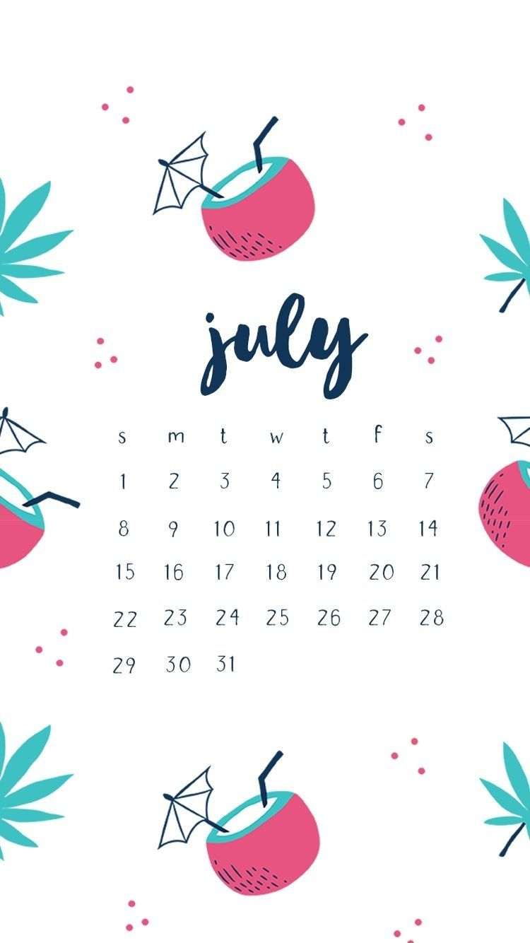 Hello July 2018 Iphone Calendar Wallpapers July 2019 Iphone Calendar Wallpaper Calendar Wallpaper Wallpaper Calendar Iphone Lockscreen Wallpaper Cute hello july wallpapers