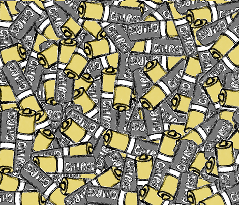 Battery Love  fabric by dutchsporkdoodles on Spoonflower - custom fabric