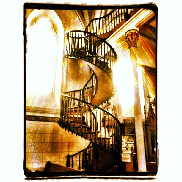 """Stairway to Heaven - these are the """"miracle stairs"""" in the Loretto Chapel in Santa Fe"""