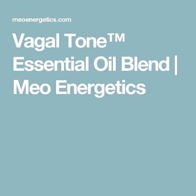 Vagal Tone™ Essential Oil Blend | Meo Energetics | Healthy