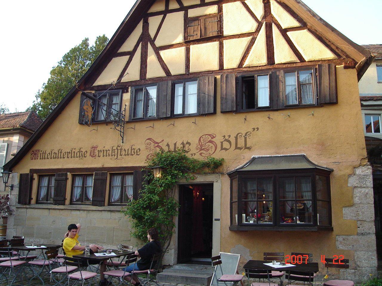 Zur Höll - Mittelalterliche Trinkstube in Rothenburg ob der Tauber, Bayern