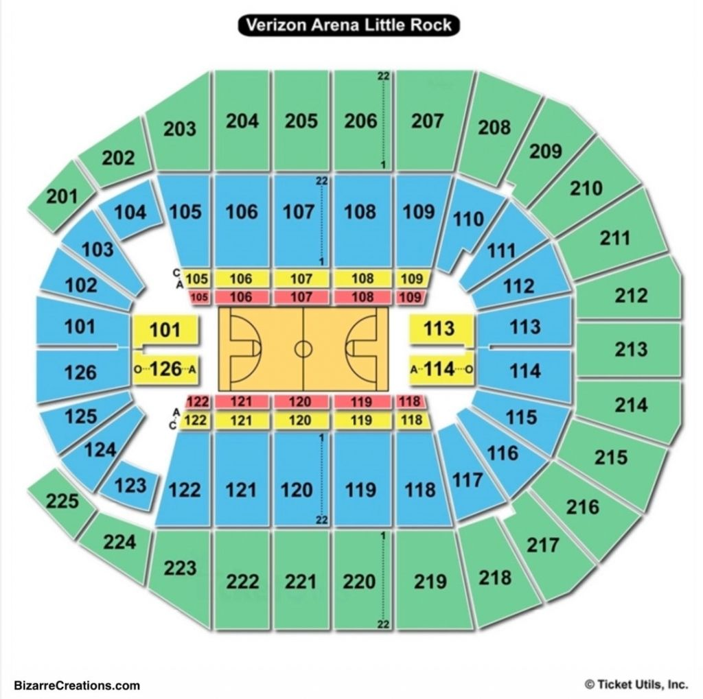 Verizon Arena Little Rock Seating Chart In 2020 Seating Charts Chart Little Rock