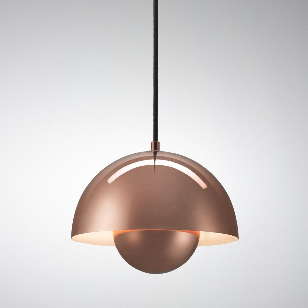 Tradition flowerpot vp1 pendant lights in copper chrome or stainless steel