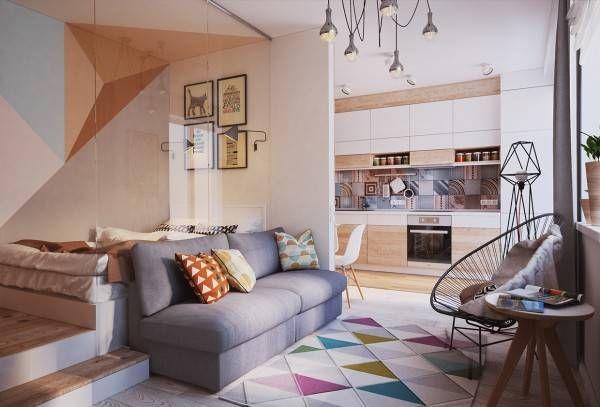 Pequeno e Belo Apartamento - Diário Décor Apartamentos/Quitinetes - departamento de soltero moderno pequeo