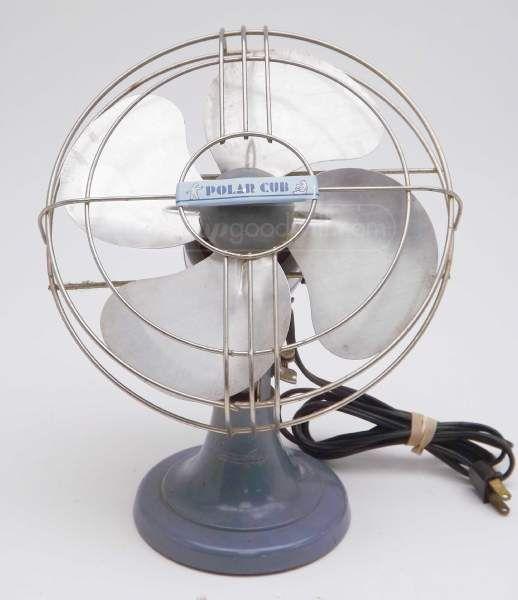 Vintage Polar Cub Small Electric Metal Fan