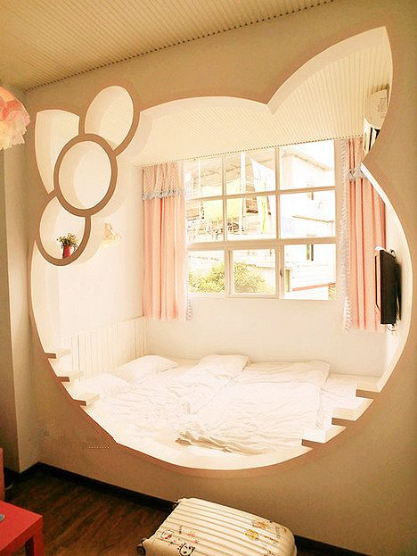 c7c504a5d7 Hello Kitty bed from Better Homes and Gardens Real Estate. These 19 Crazy  Kids  Rooms Will Make You Want to Redecorate Immediately