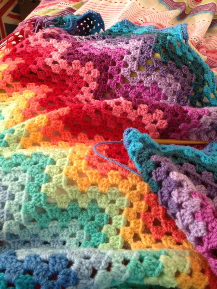 Granny Ripple Crochet Blanket Adult Afghans Pinterest Ripple