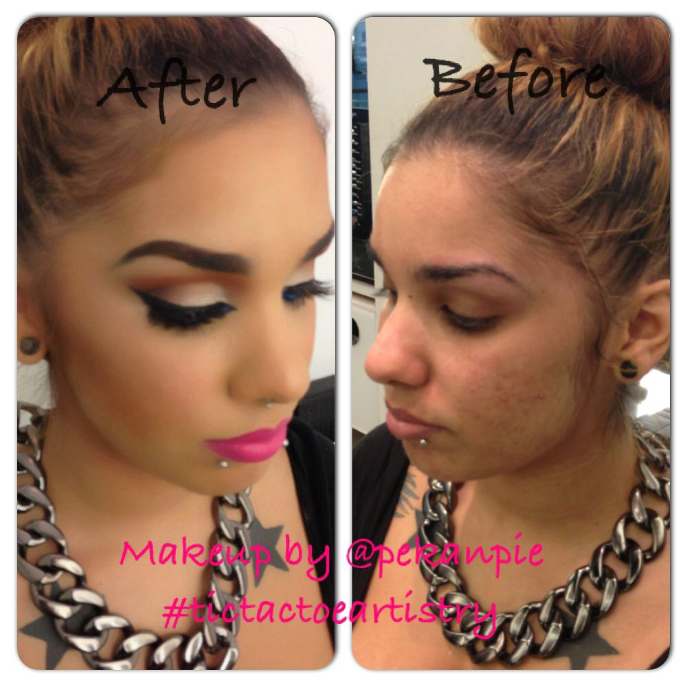 Before & after makeup by me @Lillian Aguilar Kahn
