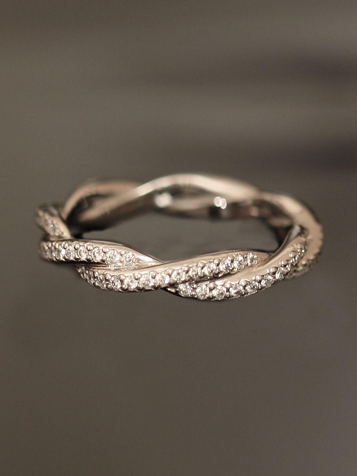 michael b. - platinum double twist eternity band